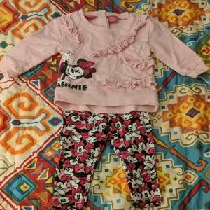 Disney Minnie Mouse 2 Piece Outfit
